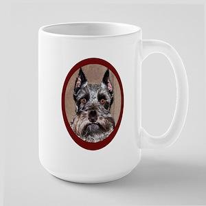 Schnauzer Portrait Large Mug