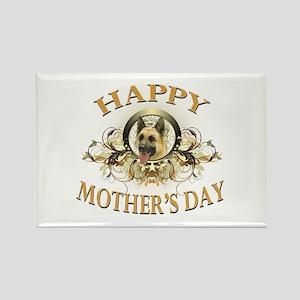 Happy Mother's Day German Shepherd Rectangle Magne