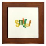 SMILE! Framed Tile