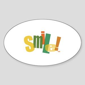 SMILE! Oval Sticker