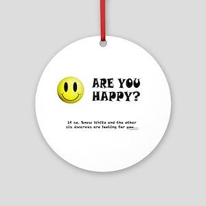 Happy? Ornament (Round)