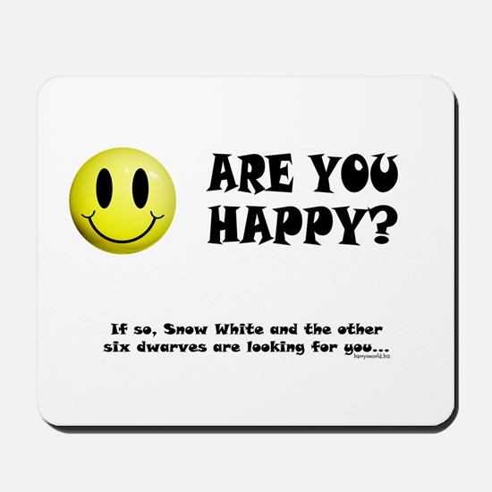 Happy? Mousepad