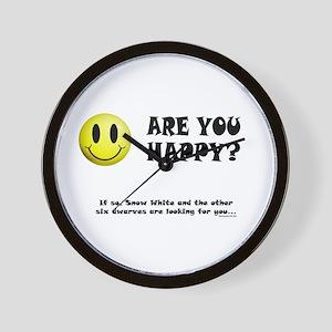 Happy? Wall Clock
