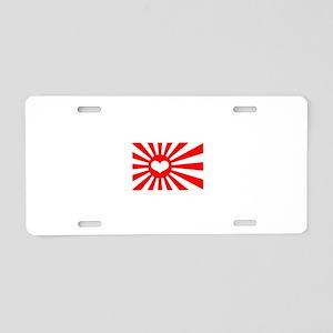 Japan's Heart Flag Aluminum License Plate