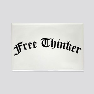 Free Thinker (Old Style) Rectangle Magnet