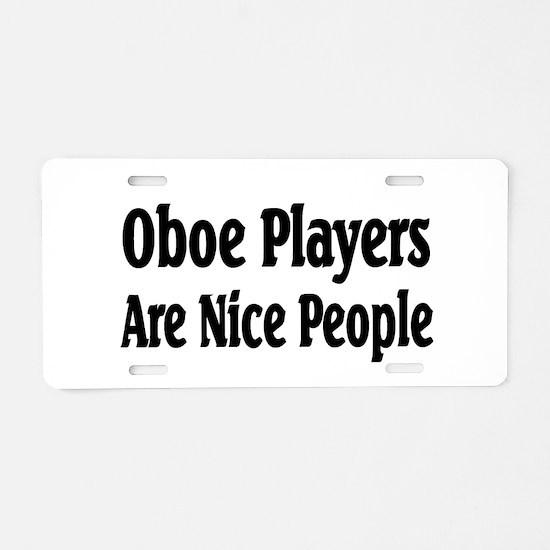 Cool Oboe Aluminum License Plate
