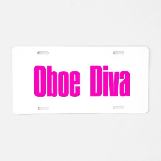 Unique Oboe Aluminum License Plate