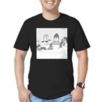 Pie Rats (no text) Men's Fitted T-Shirt (dark)