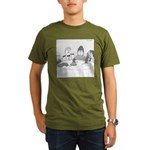 Pie Rats (no text) Organic Men's T-Shirt (dark)
