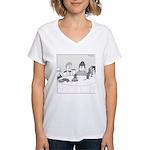 Pie Rats (no text) Women's V-Neck T-Shirt