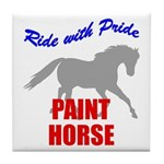 Ride With Pride Paint Horse Tile Coaster