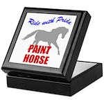 Ride With Pride Paint Horse Keepsake Box