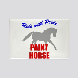 Ride With Pride Paint Horse Rectangle Magnet