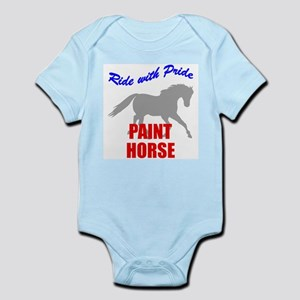 Ride With Pride Paint Horse Infant Creeper