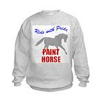 Ride With Pride Paint Horse Kids Sweatshirt