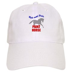 Ride With Pride Paint Horse Baseball Cap