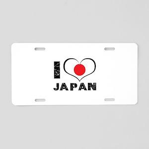 I Heart Japan Aluminum License Plate