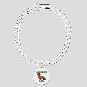 Dachshund Mom Charm Bracelet, One Charm