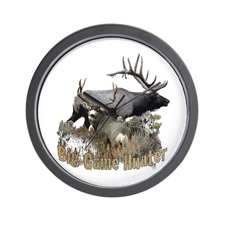 Big game elk and deer Wall Clock