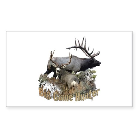 Big game elk and deer Sticker (Rectangle)