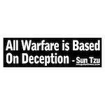Warfare and Deception Sun Tzu bumper sticker