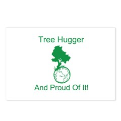 Tree Hugger & proud Postcards (Package of 8)
