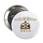"""DIVA Maid of Honor 2.25"""" Button (100 pack)"""