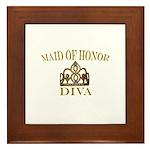 DIVA Maid of Honor Framed Tile