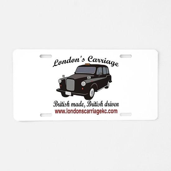 Cute Taxi Aluminum License Plate