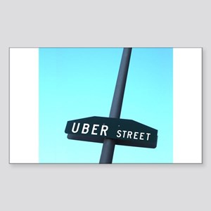 Uber Street Sticker (Rectangle)