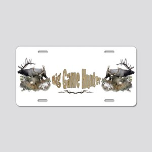 Big Game Hunter,2 Aluminum License Plate