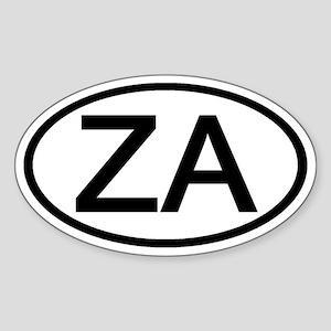 ZA - Initial Oval Oval Sticker