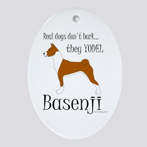 Real Dogs Don't Bark - Red Ornament (Oval)