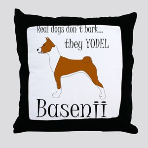 Real Dogs Don't Bark - Red Throw Pillow
