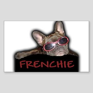 Frenchie Logo Rectangle Sticker