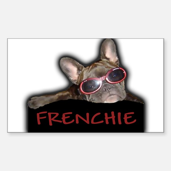 Frenchie Logo Rectangle Decal