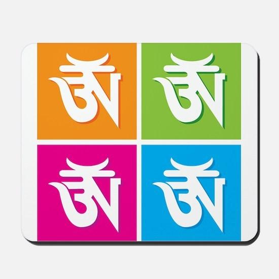 Auspicious Hindu Symbol Om / Mousepad