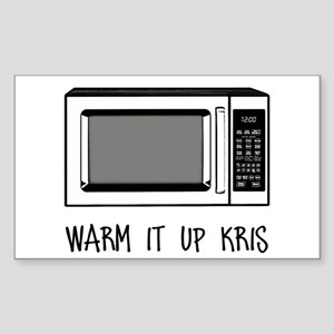Warm it Up Kris Sticker (Rectangle)