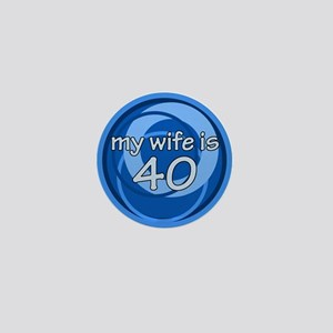Funny 40th Birthday Gift For Mini Button