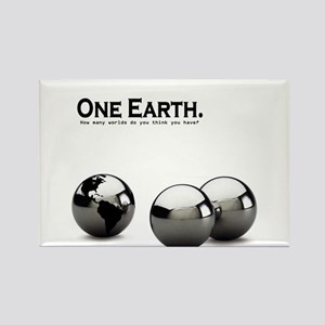 One Earth. Rectangle Magnet