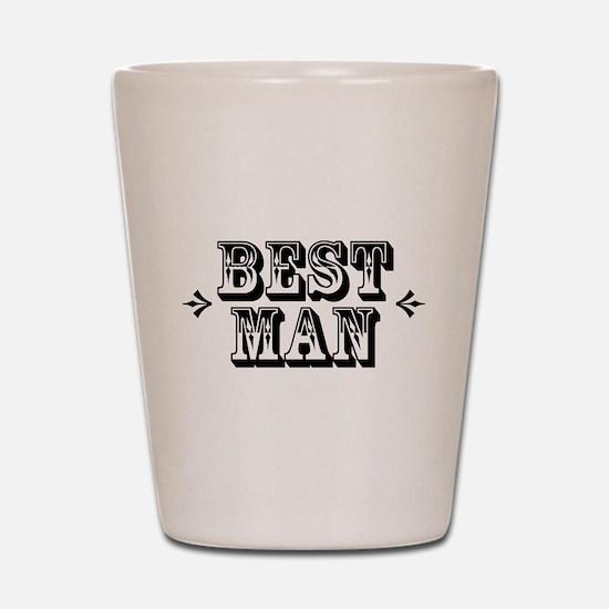Best Man - Old West Shot Glass