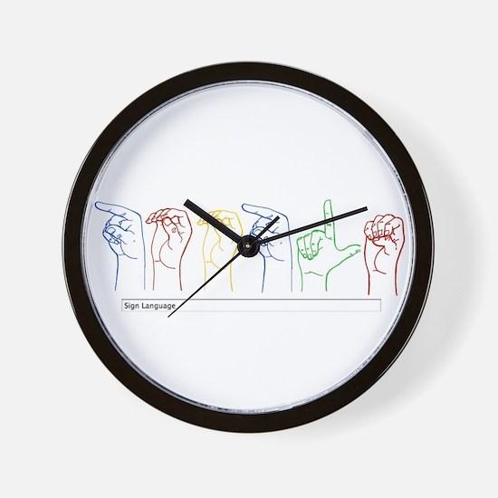 Google Search Wall Clock