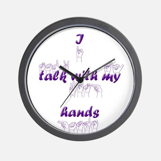 I talk with my hands Wall Clock