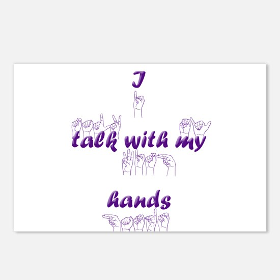 I talk with my hands Postcards (Package of 8)