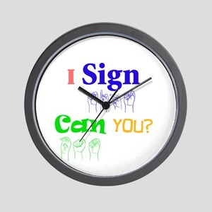 I sign can you? in ASL Wall Clock