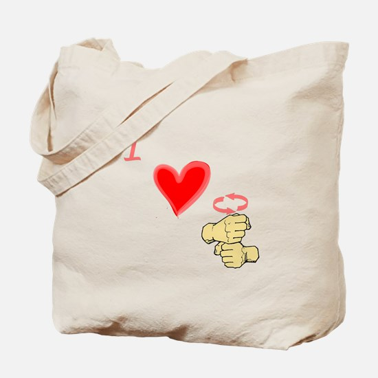 I Love Coffee in ASL Tote Bag