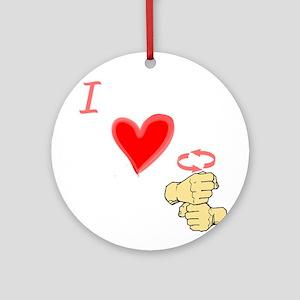 I Love Coffee in ASL Ornament (Round)