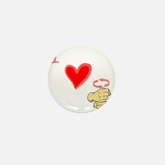 I Love Coffee in ASL Mini Button