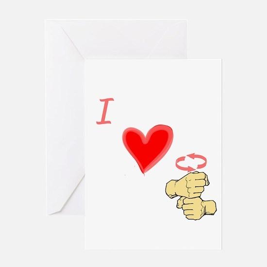 I Love Coffee in ASL Greeting Card