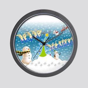 Holiday, happy Wall Clock
